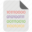 binary, binary file, coding, coding file, data mining icon
