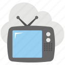 cloud broadcasting, cloud tv, digital tv, internet tv, satellite channels icon