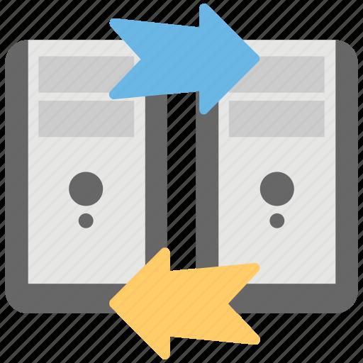 data exchange, data share, data transfer, hosting transfer, shared hosting icon
