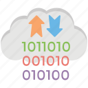 cloud arrows, cloud computing, cloud data transfer, cloud service, cloud storage icon