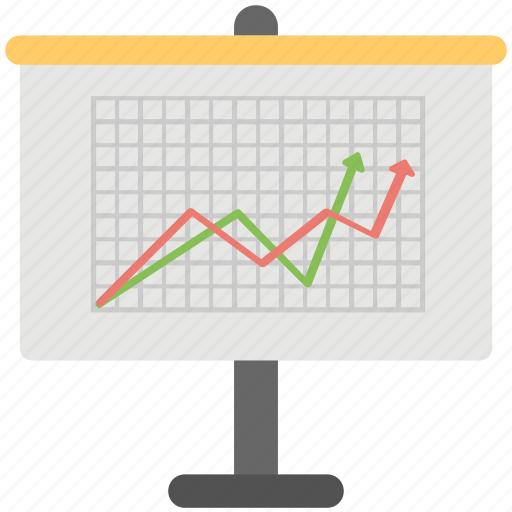 analysis board, business analytics, business graph, graphic presentation, graphic report icon