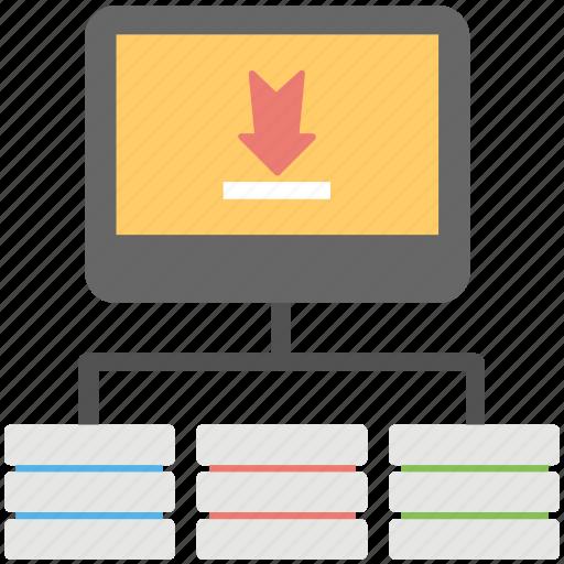 backup, backup solutions, database recovery, download server, server backup icon
