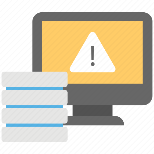 database error, hosting error, internal error, server error, webpage error icon