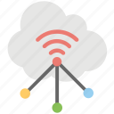 cloud signals, hotspot, wifi connected, wifi network, wifi signals icon