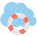 cloud based protection, cloud computing, cloud computing and storage security concept, cloud lifebelt, encrypted cloud icon
