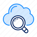 cloud, search icon