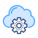 gear, setting, cloud