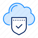 safety, shield, cloud