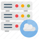 cloud, database, servers icon