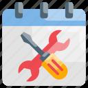 schedule, scheduled, service, update icon