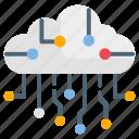 circuit, cloud computing, cloud, cloud circuit icon