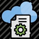 cloud, data, database, digital, processing