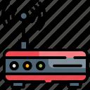 broadband, internet, modem, technology, wireless icon