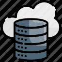 cloud, data, database, network, storage