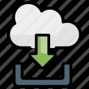 download, downloads, cloud, communication icon