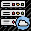 cloud, database, hosting, network, servers icon