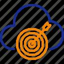 goal, target, achievement, success, setting, cloud icon