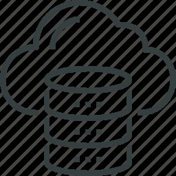 cloud, computing, data, database, mainframe, rack, server, storage icon