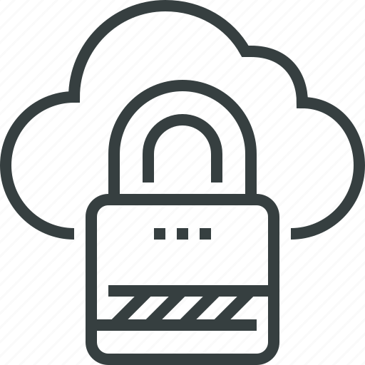 cloud, data, database, internet, lock, protection, secure, security icon