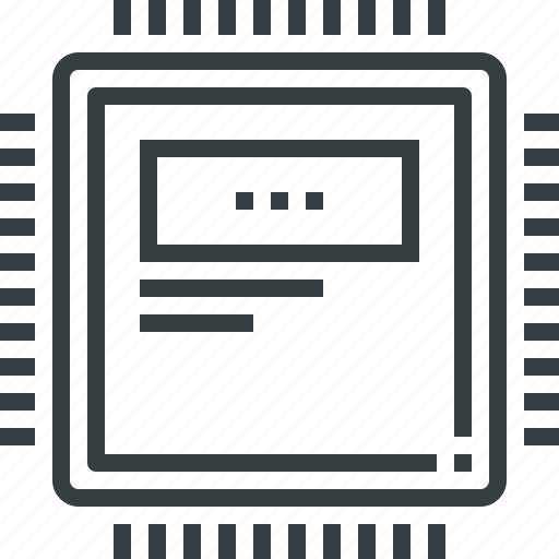 computer, hardware, mainframe, pc, processor, technology, unit icon