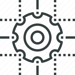 abstract, cog, gear, internet, process, technology, wheel icon