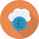 climate, cloud, coin, nature, sky icon