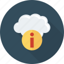 activity, cloud, info, information, letter icon