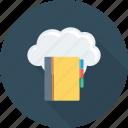 address, book, cloud, computing, icloud, phone icon