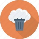 bin, cloud, delete, dustbin, recycle, trash, trashcan icon