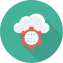 cloud, communication, earth, global, globe, setting