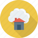 cloud, computing, home icon