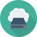cloud, data, device, drive, storage icon