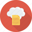 cloud, document, file, upload icon