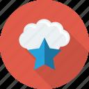 cloud, favorite, like, star icon