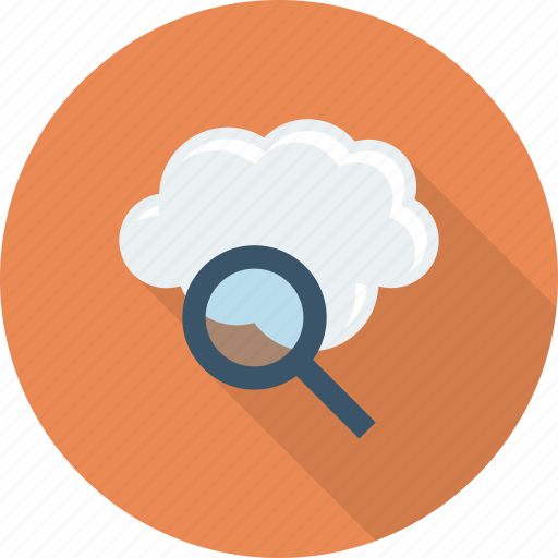 cloud, find, internet, search icon