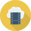 cloud, icloud, multimedia, online, video icon