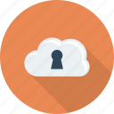 cloud, lock, locked, security icon