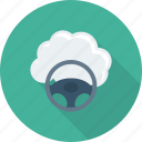 cloud, diving, driving, steering, wheel icon