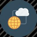 cloud, computing, global, internet, storage icon
