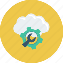 admin, cloud, gears, setting icon
