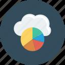 analytics, cloud, computing, graph, online icon
