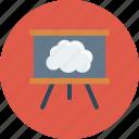 board, cloud, green, homework, school icon