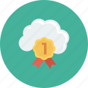 bookmark, cloud, favorite, mark, marker, ribbon, special icon