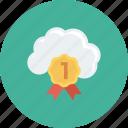 bookmark, cloud, favorite, mark, marker, ribbon, special icon