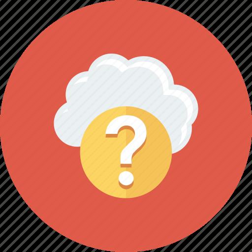 ask, cloud, faq, question icon