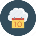 cloud, computing, online, schedule, storage icon