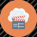 cinema, clapper, cloud, multimedia