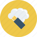 cloud, computing, data, file, usb icon