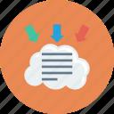 cloud, docs, parameters, text icon