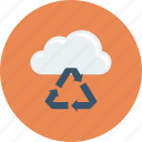 bean, cloud, dust, recover, recycle icon